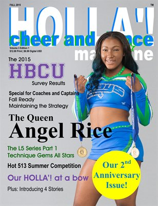 HOLLA'! Cheer and Dance Magazine Fall 2015 Issue