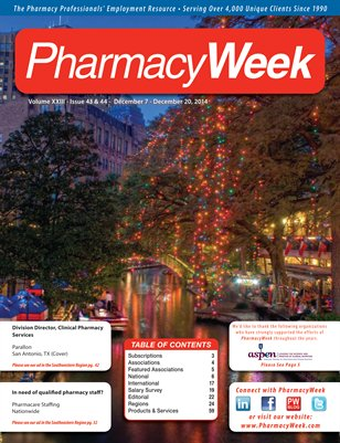 Pharmacy Week, Volume XXIII - Issue 43 & 44 - December 7 - December 20, 2014