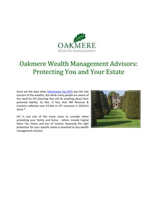 Oakmere Wealth Management Advisors: Protecting You and Your Estate