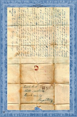 1847 Letter to Joseph Rust in North Carolina, Morganton, Burk County from Samuel Carthers(?) of McCracken County, Kentucky