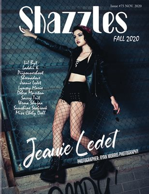 Shazzles Fall Issue #75 Cover Model Jeanie Ledet