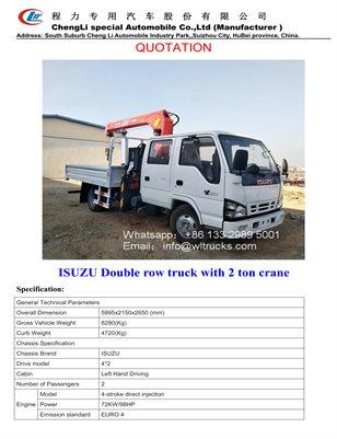 ISUZU truck with 2 ton crane