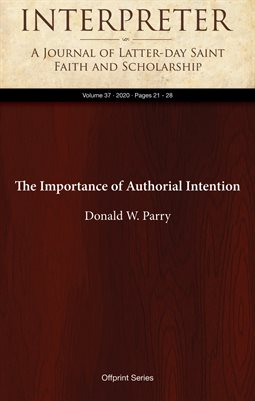 The Importance of Authorial Intention