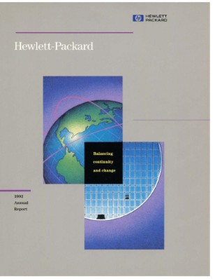 HP Annual Report 1992