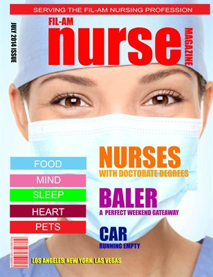 Fil-Am Nurse Magazine Month of July 2014