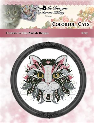 Colorful Cats Exclusive Kitty Counted Cross Stitch Pattern