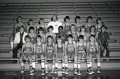 "Oct. 30, 1973 Lowes ""Blue Devils"" Boy's High School JV Basketball Team"