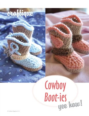 Craftique - Crochet Cowboy Boot-ies