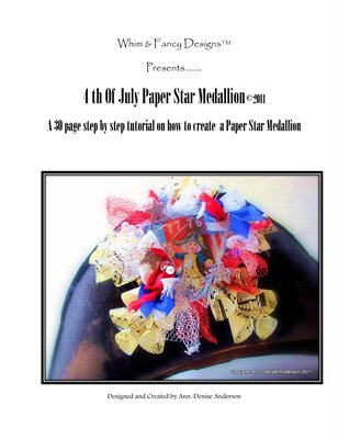 4th Of July Paper Star Medallion ~ a Step by Step Tutorial