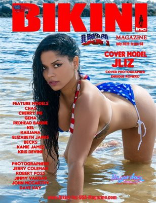 BIKINI INC USA MAGAZINE - Cover Model Jliz - July 4th Issue - July 2019