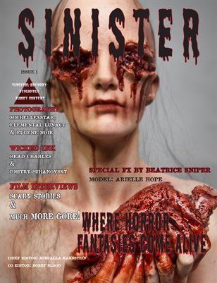 SINISTER Magazine-Issue #1-Arielle Hope Cover
