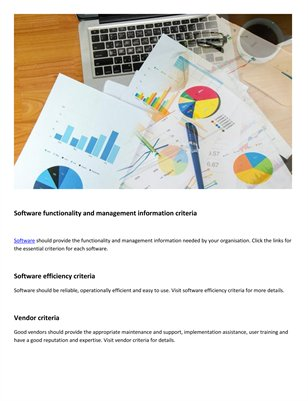 Axia Consultants essential software criteria