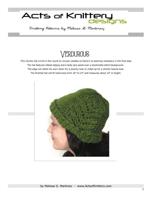 Verdurous Hat Knitting Pattern