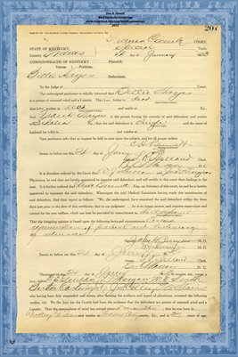 1923 State of Kentucky vs. Bettie Hayes, Graves County, Kentucky