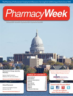 Pharmacy Week, Volume XXII - Issue 33 - September 22 - September 28, 2013