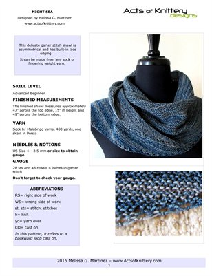 Night Sea Shawl