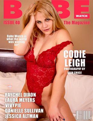 BABE WATCH MAGAZINE ISSUE 40 FT. CODIE LEIGH