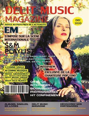 Delit Music Magazine - En couverture la chanteuse Em