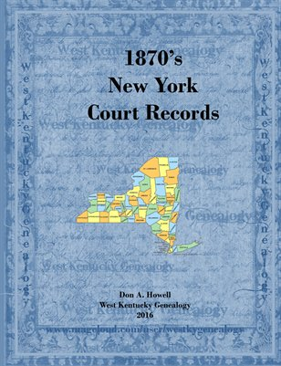 1870's New York Court Records