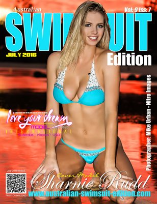 AUSTRALIAN SWIMSUIT EDITION MAGAZINE - Cover Model Sharnie Rudd - July 2016