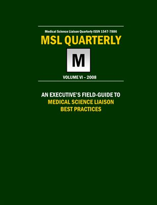 Executive's Field-Guide to MSL Best Practices 2008