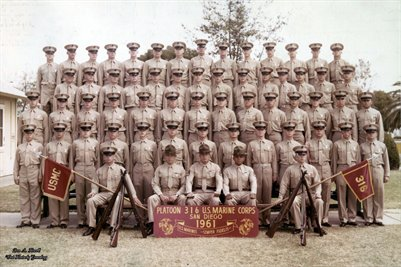1961, USMC Platoon 316, San Diego, California