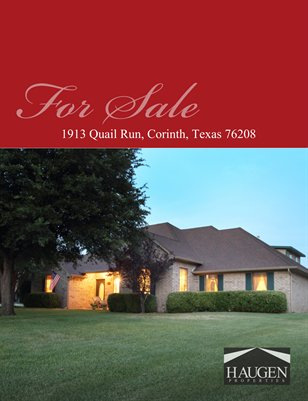 1913 Quail Ridge Drive, Corinth, Texas