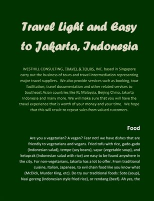Travel Light and Easy to Jakarta, Indonesia