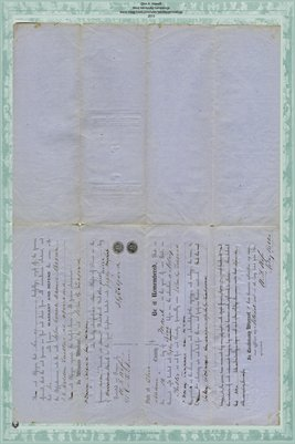 1859 Deed, Telford to Counts, Brown, Holder in Miami County, Ohio