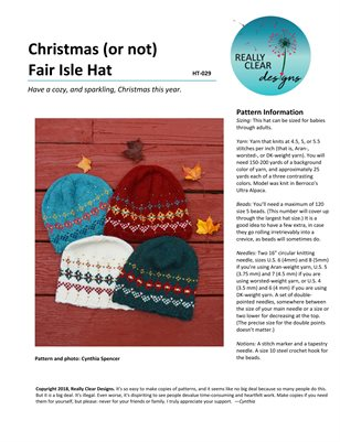 Christmas (or Not) Fair Isle Hat