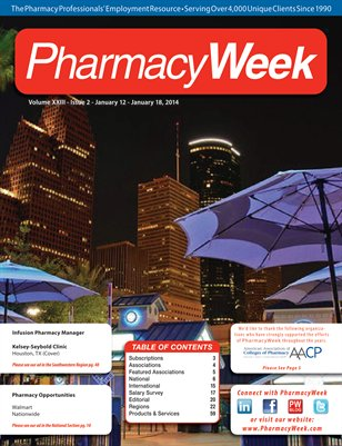 Pharmacy Week, Volume XXIII - Issue 2 - January 12 - January 18, 2014