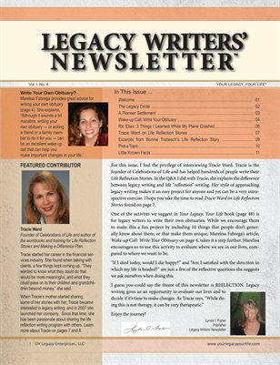 Legacy Writer's Newsletter 1:4