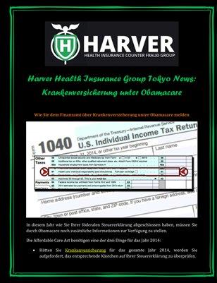 Harver Health Insurance Group Tokyo News: Krankenversicherung unter Obamacare