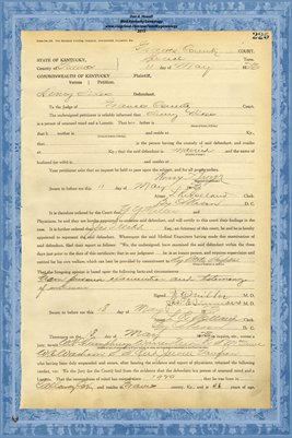 1923 State of Kentucky vs. Henry Sikes, Graves County, Kentucky