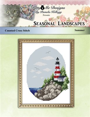 Cross Stitch Seasonal Landscape Summer