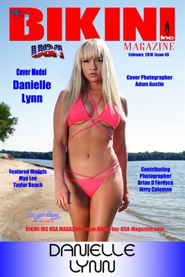 BIKINI INC USA MAGAZINE COVER POSTER - Cover Model Danielle Lynn - February 2018