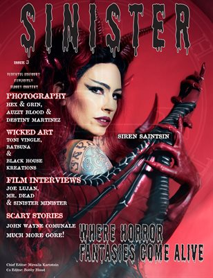 SINISTER Magazine-Issue #3-Siren Saintsin Cover