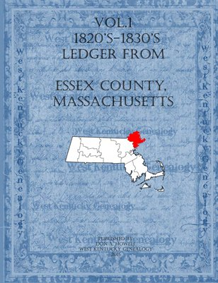 Vol.1 1820's- 1830's Ledger from Essex County, Massachusetts