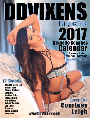 2017 DDVIXENS Brunette Beauties Calendar