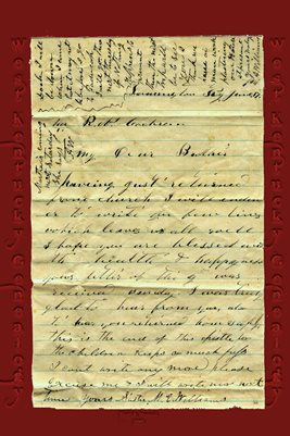 "1864 letter between Martha Elizabeth Cochran to her brother Richard N. ""Dock"" Cochran, Farmington, Graves County, Kentucky"
