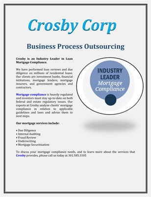 Crosby Corp: Business Process Outsourcing