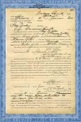 1924 State of Kentucky vs. Roy Yates, Graves County, Kentucky