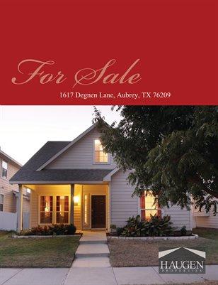 Haugen Properties -  1617 Degnen Lane, Aubrey, 76227