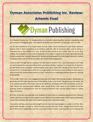 Dyman Associates Publishing Inc. Review: Artemis Fowl