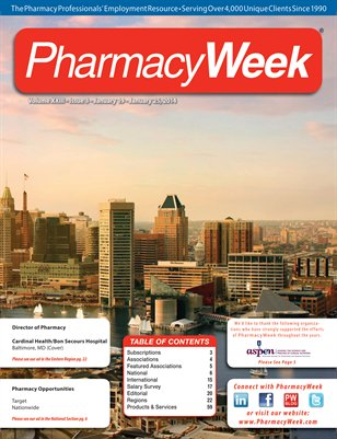 Pharmacy Week, Volume XXIII - Issue 3 - January 19 - January 25, 2014