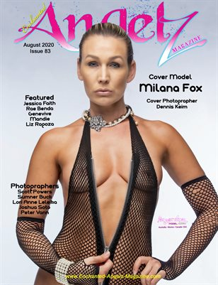 ENCHANTED ANGELZ MAGAZINE - Cover Model Milana Fox - August 2020