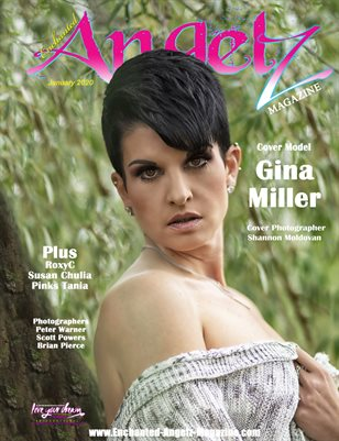 ENCHANTED ANGELZ MAGAZINE - Cover Model Gina Miller - January 2020