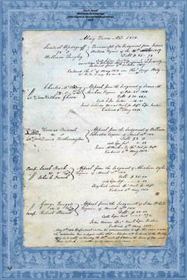1818 MAY TERM, LYCOMING COUNTY, PENNSYLVANIA COURT PAGES.