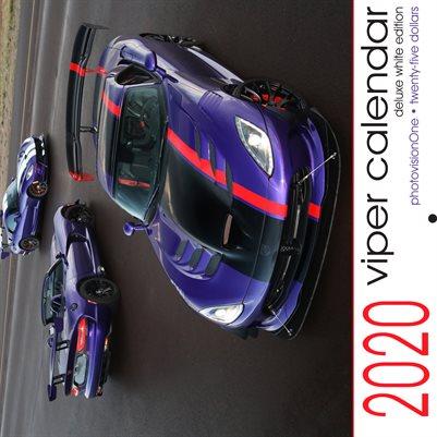 2020 Dodge Viper Calendar - DELUXE White Edition