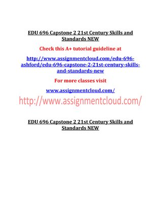 EDU 696 Entire Course NEW